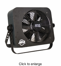 AMERICAN DJ ENTOUR CYCLONE Mobile DMX fan machine, fan speed adjustmnet, PowerCon in & out. - click to enlarge