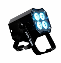 AMERICAN DJ MOD QA60 Modular design QUAD par, 4 x15 watt RGBA LEDs, includes frost filter with three different beam angles
