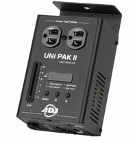 AMERICAN DJ UNI-PAK II 1 channel, DMX dimmer/switch pack. 10 amps max.