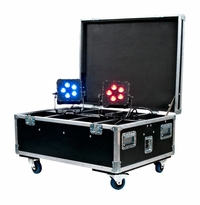 AMERICAN DJ WI FLIGHT CASE New Wi Flight case for our Wifi Series pars. Holds up to 8 units, includes power connection for ease of recharging pars