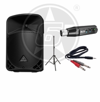Behringer B108D 300-Watt 8-inch PA Speaker System Package w/ Alto Rechargeable Bluetooth Wireless Receiver