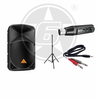 "Behringer B112MP3 Powered 12"" Speaker Package w/ Alto Rechargeable Bluetooth Wireless Receiver"