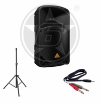 "Behringer B115MP3 15"" Powered 1000-Watt Speaker Package"