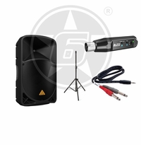 "Behringer B115MP3 Powered 15"" Speaker Package w/ Alto Rechargeable Bluetooth Wireless Receiver"