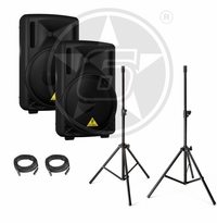 "Behringer B212D Powered 12"" Speaker Package"