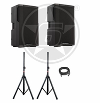 Cerwin-Vega! CVE-15 DJ Package w/ Speaker Stands