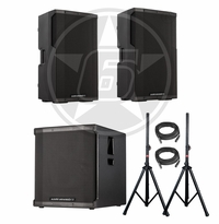 "Cerwin-Vega! CVE-15 Powered 15"" Speakers & CVE-18 Powered 18"" Subwoofer DJ Package"