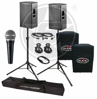 D.A.S. Action 12A Live Sound DJ Package with Shure PGA48 Microphone