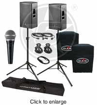 D.A.S. Action 12A Live Sound DJ Package with Shure PGA48 Microphone - click to enlarge