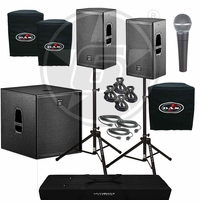 D.A.S. Action 12A Powered Speakers & Action 18A Subwoofer Package