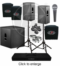 D.A.S. Action 12A Powered Speakers & Action 18A Subwoofer Package - click to enlarge