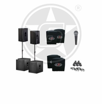 "D.A.S. Action 15A 15"" Powered Speakers & 18"" Subwoofers Duo Package"