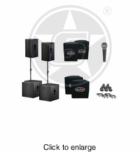 "D.A.S. Action 15A 15"" Powered Speakers & 18"" Subwoofers Duo Package - click to enlarge"