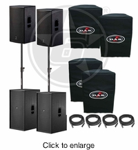 D.A.S. Action 15A Powered Speaker & 218A Powered Subwoofer Live Sound DJ Package - click to enlarge