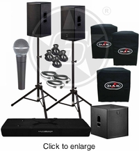 D.A.S. Action 15A Powered Speakers & Action 18A Subwoofer Package - click to enlarge