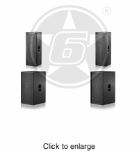 "D.A.S. Action Passive Live Sound Package w/ (2) Action 215 Passive Dual 15"" Speakers & (2) Action 218 Passive Dual 18"" Subwoofers - click to enlarge"