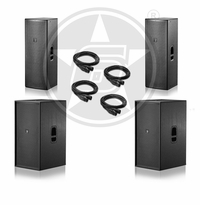"D.A.S. Audio (2) Action 215A Dual 15"" 2-Way Powered Speakers & (2) Action 218A Dual 18"" Powered Subwoofers"