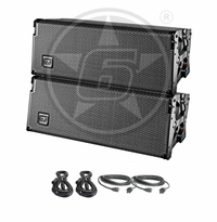 "D.A.S. Audio (2) Event 208A Dual 8"" Powered Line Array Speaker System Package"