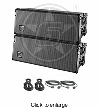 """D.A.S. Audio (2) Event 208A Dual 8"""" Powered Line Array Speaker System Package - click to enlarge"""