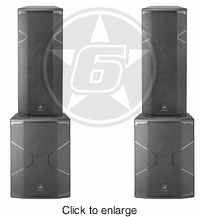 "D.A.S. Audio (2) Vantec 215A Powered Dual 15"" Speakers & (2) Vantec 18A Powered 18"" Subwoofer Live Sound Package - click to enlarge"
