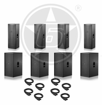 """D.A.S. Audio (4) Action 215A Powered Dual 15"""" Speakers & (4) Action 218A Powered Dual 18"""" Subwoofer Ultimate Package"""