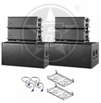 "D.A.S. Audio (4) Event 208A Powered Line Array Speakers & (2) Event 218A Dual 18"" Powered Subwoofers"