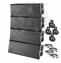 D.A.S. Event 208A Powered Line Array Live Sound DJ Package