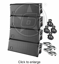 D.A.S. Event 208A Powered Line Array Live Sound DJ Package - click to enlarge