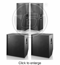"D.A.S. Live Sound Package w/ (2) Action 215A Double 15"" Powered Speakers & (2) Action 118A Powered 18"" Subwoofer - click to enlarge"