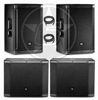 "JBL SRX DJ Package w/ (2) SRX815P 15"" Powered Speakers & SRX818SP Powered 18"" Subwoofer"
