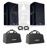 "QSC K10.2 Powered 10"" 2000-Watt Speaker Package w/ Tote Bags"