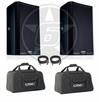 QSC K12.2 Powered 2000-Watt PA Speaker Package