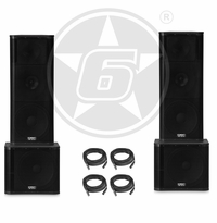 "QSC KW153 Powered 3-Way Dual 15"" Speakers & KW181 Powered 18"" Subwoofer Package"