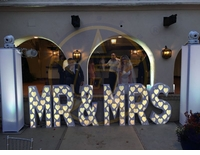 SIX STAR Décor MR&MRS 45 Inch Tall White MR&MRS letters