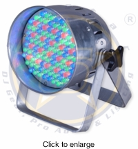 SIX STAR Electro 56 LED Par 56 up light, polished aluminum - click to enlarge