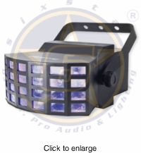 SIX STAR LED Array Tri LED Mini Derby 9w x2 - click to enlarge