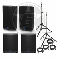 "Turbosound IQ Package w/ (2) IQ15 Powered 15"" Speakers & (2) IQ15B Powered 15"" Subwoofers"