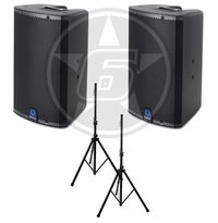Turbosound IX12 DJ Package w/ (2) IX12 Powered Speakers & Speaker Stands