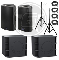 Turbosound Milan Live Sound Package w/ (2) Milan M15 Powered Speakers & (2) Milan M18B Powered Subwoofers