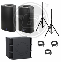 Turbosound Milan Package w/ (2) Milan M15 Powered Speakers & (2) Milan M18B Powered Subwoofers