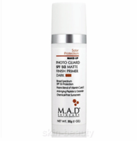 M.A.D Skincare Photo Guard SPF 50 Matte Finish Primer Dark - 1 oz (800111)