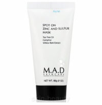 M.A.D Skincare Spot On Zinc and Sulfur Mask - 2 oz (300515)