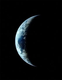 Apollo 11 Crescent Earth