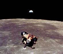 Apollo 11 Man Moon Earth