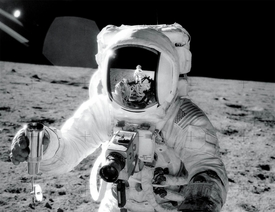 Apollo 12 Reflection Self-Portrait