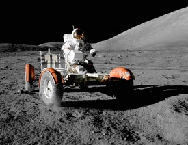 Apollo 17 Cernan at the Wheel