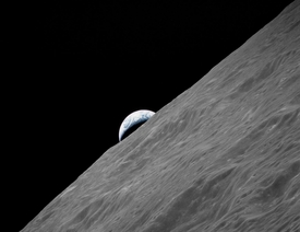 Apollo 17 Crescent Earth Rising