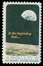 Apollo 8 Earth Rise Stamp
