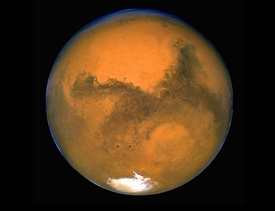 Big Mars from Hubble