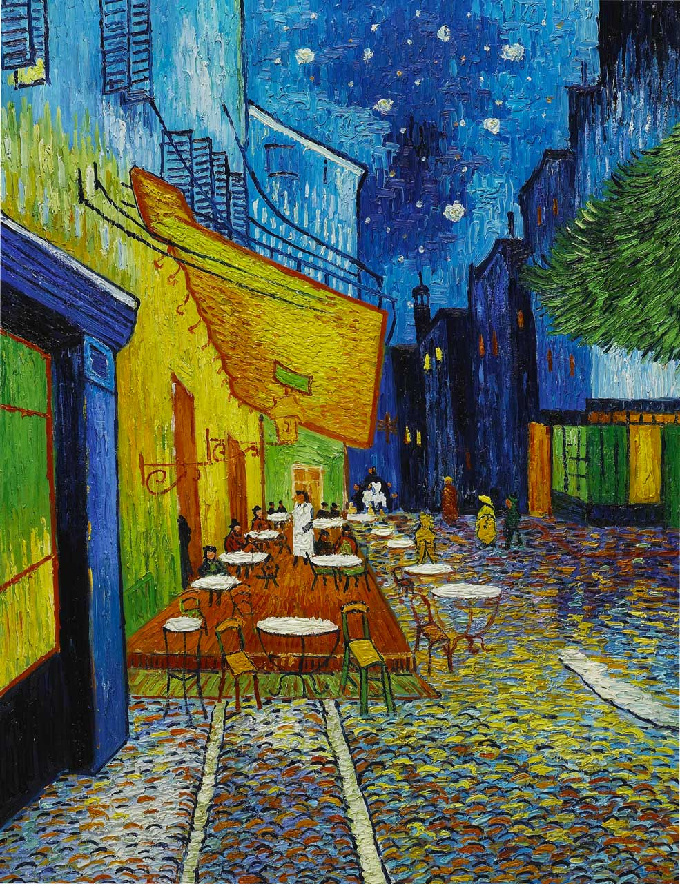 Cafe terrace at night vincent van gogh sky image lab for Terrace night